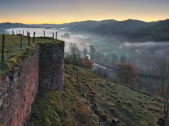 Chateau de Beaucaire, Nauviale, Aveyron, Décembre