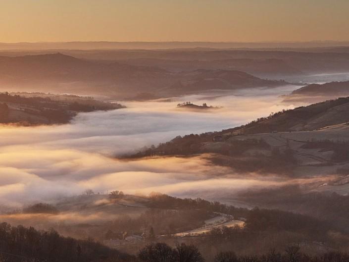 Depuis Montbigoux, Noailhac, Aveyron, Janvier