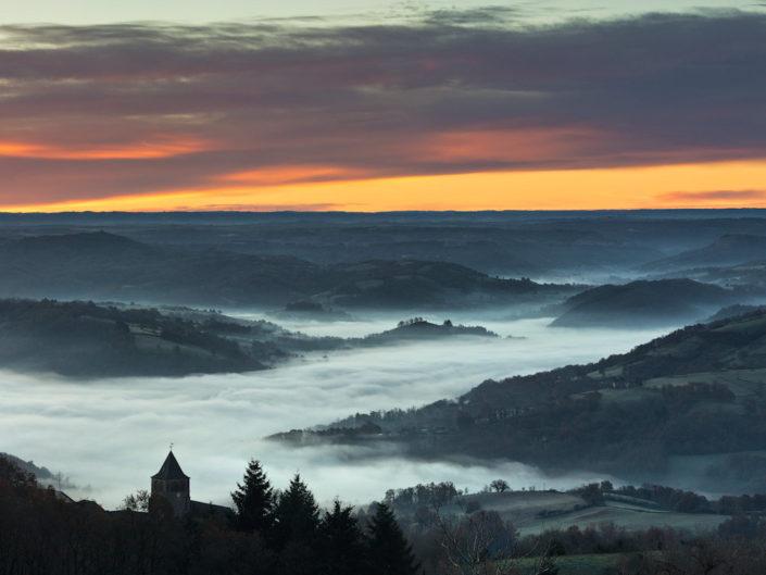 Depuis Montbigoux, Noailhac, Aveyron, Décembre