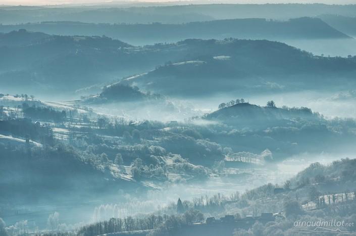 Vers Nauviale, Noailac, Aveyron, Janvier