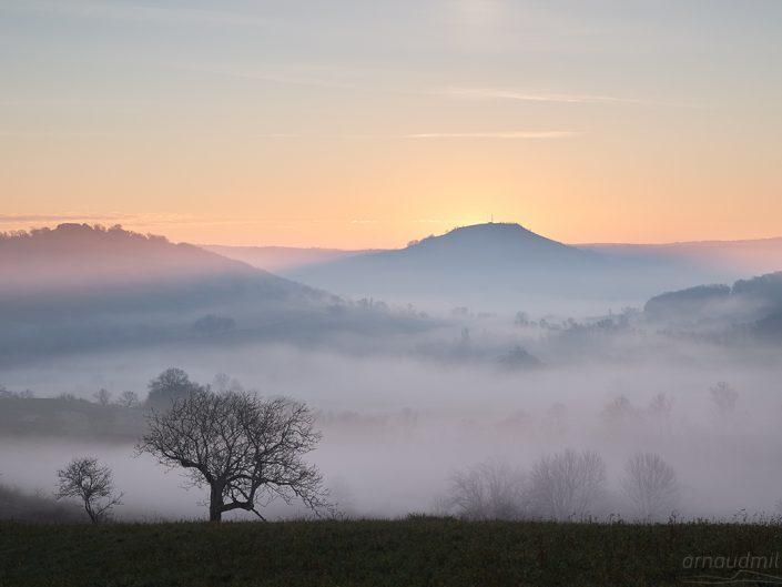 Depuis Guiols, Saint Christophe Vallon, Aveyron, Décembre