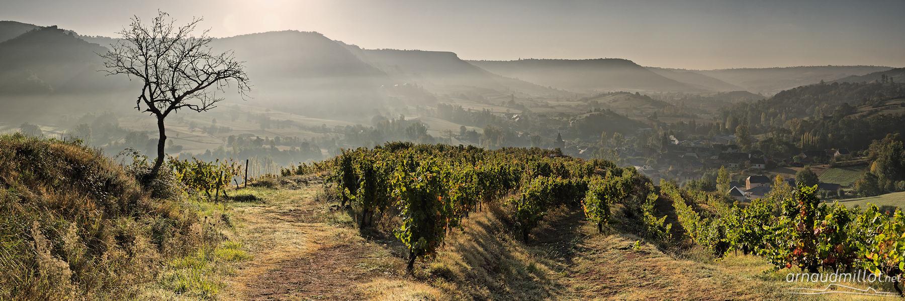 Au dessus de Clairvaux, Aveyron, Octobre