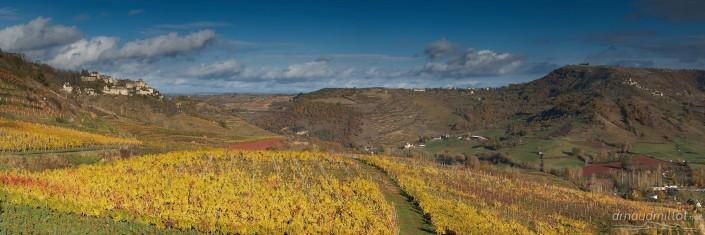 Depuis le Cros, Goutrens, Aveyron, Novembre