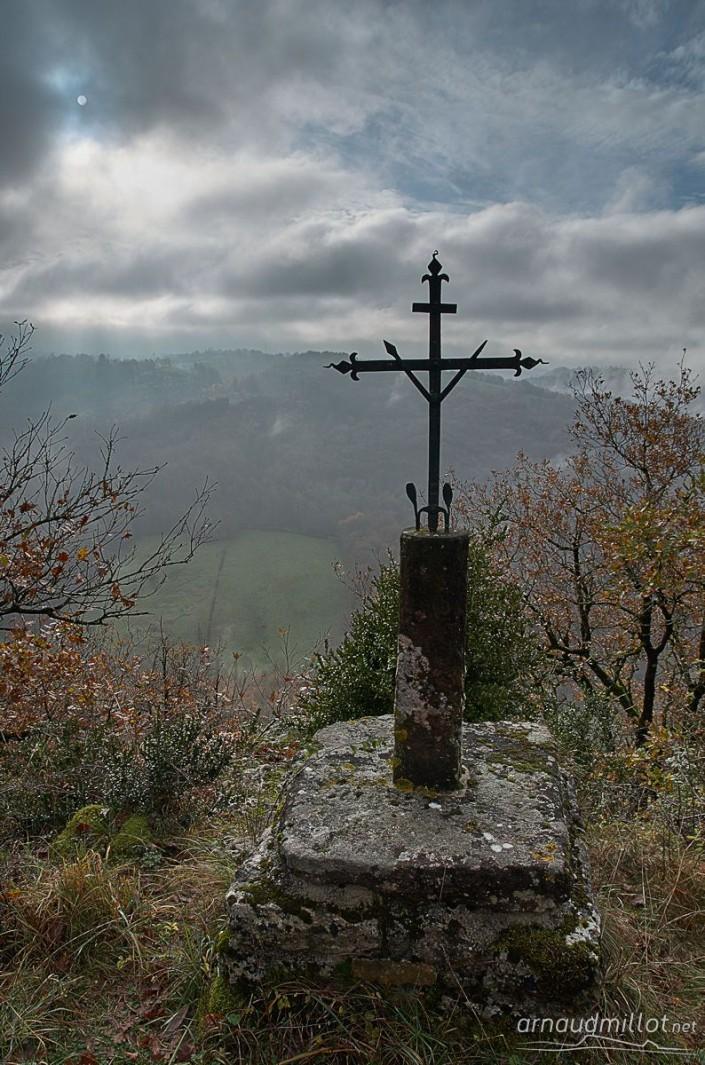 Croix de vignes, Baslac, Aveyron, Novembre
