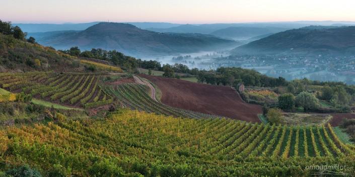 Depuis les Crestes, Goutrens, Aveyron, Novembre