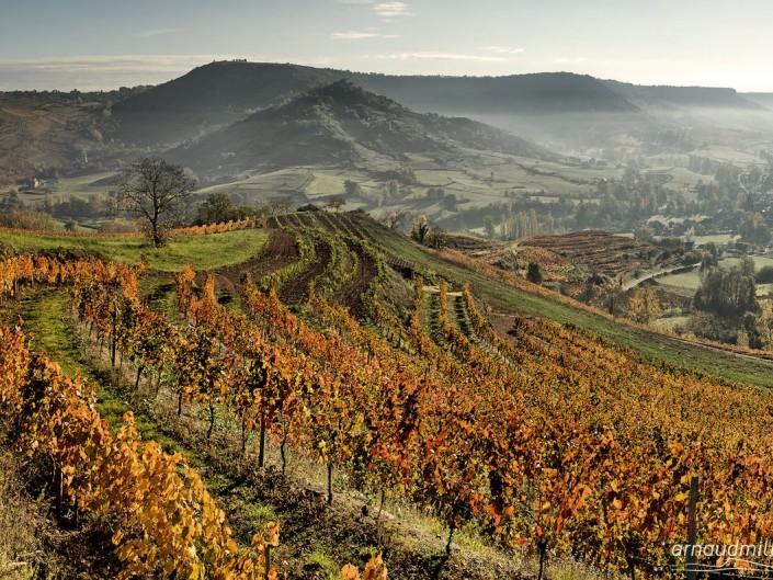 Face à Panat, Goutrens, Aveyron, Novembre