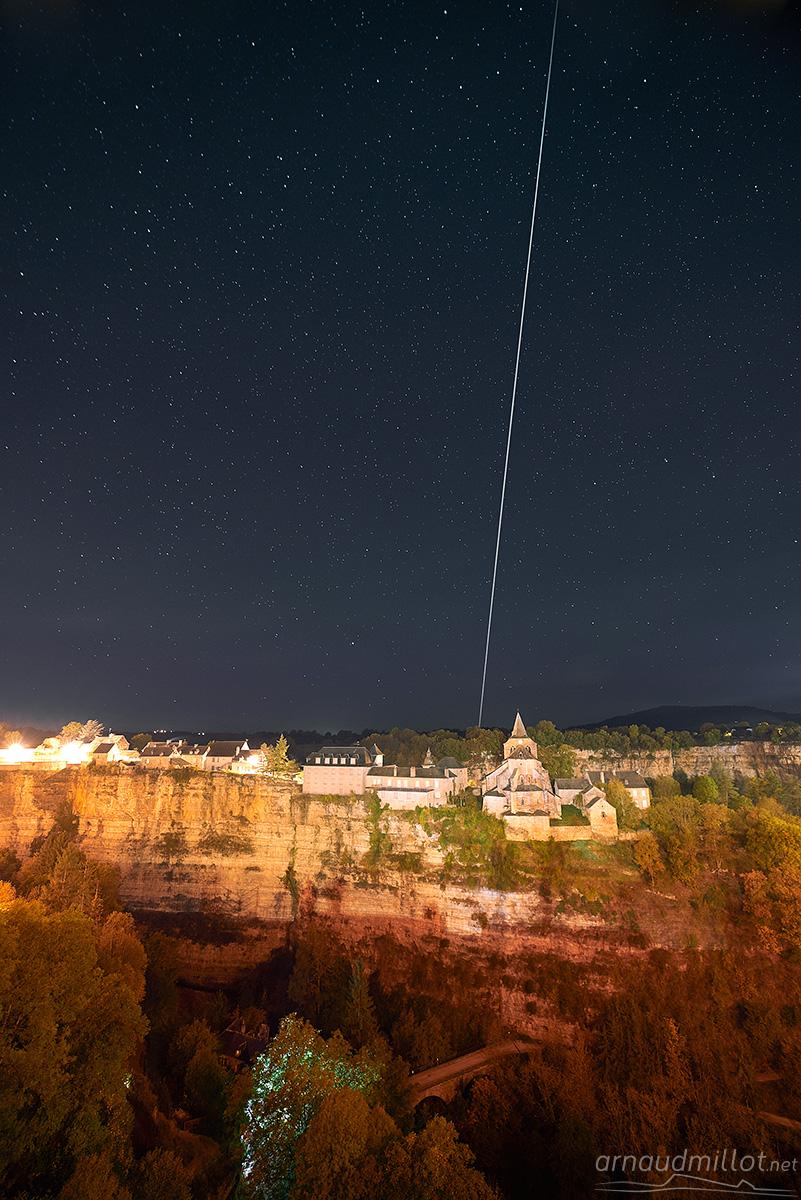 Passage de l'ISS, Bozouls, Aveyron, Octobre