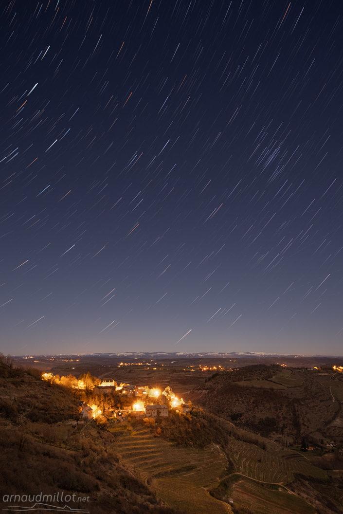 Filé d'étoiles à Cassagnes Comtaux, Aveyron, Février