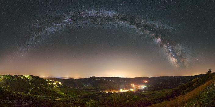Le Vallon sous la Voie Lactée, Cassagnes Comtaux, Aveyron, Juillet