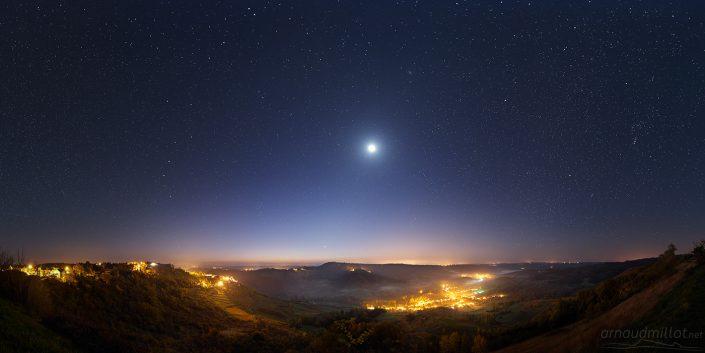 La Vallée de l'Ady sous les étoiles, Goutrens, Aveyron, Octobre
