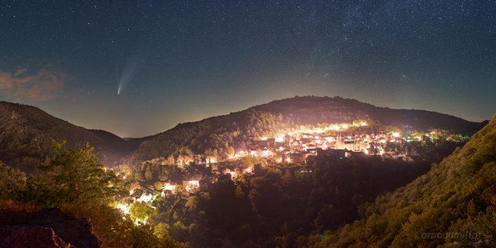 Comete Neowize c2020 f3, Conques, Aveyron, Juillet 2020
