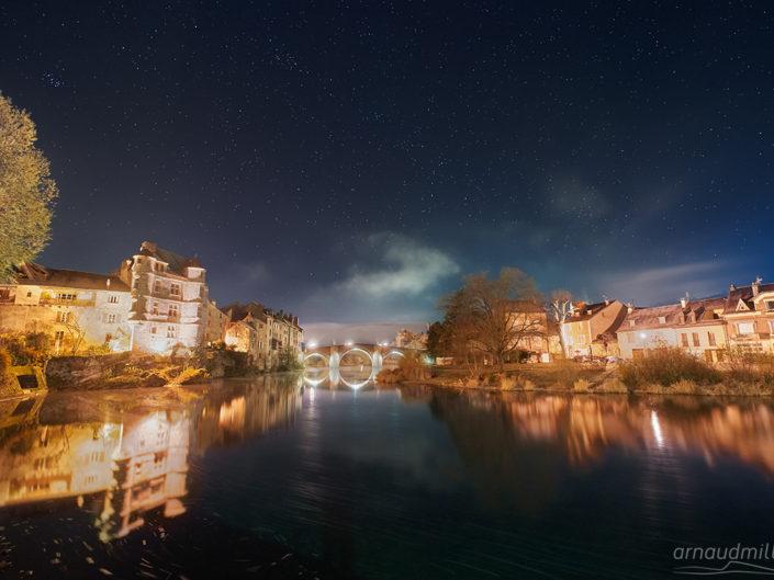 Le Palais et le Pont Vieux, Espalion, Aveyron, Novembre