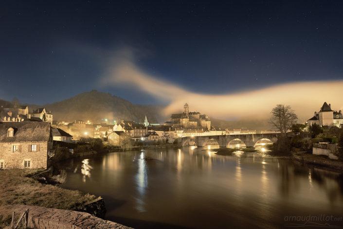 Estaing, Aveyron, décembre