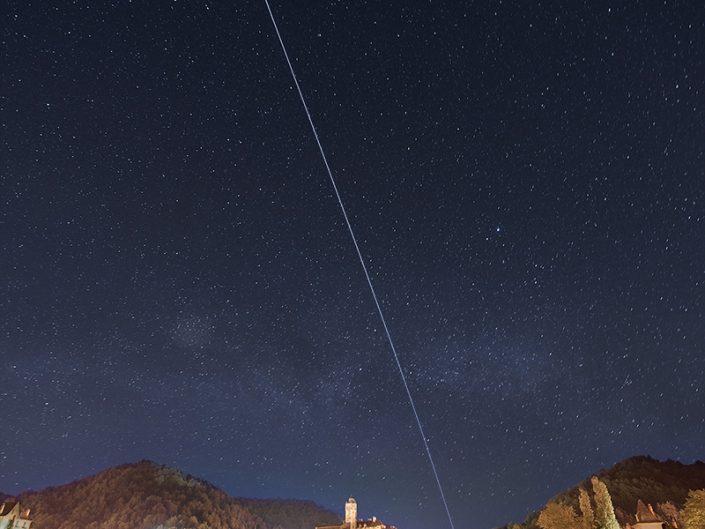 Passage de l'ISS depuis Estaing, Aveyron, Mai