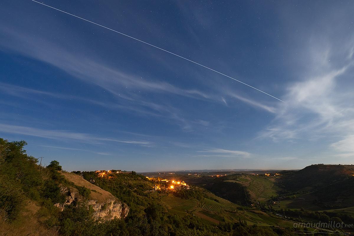 Passage de l'ISS depuis Cassagnes Comtaux, Goutrens, Aveyron, Août