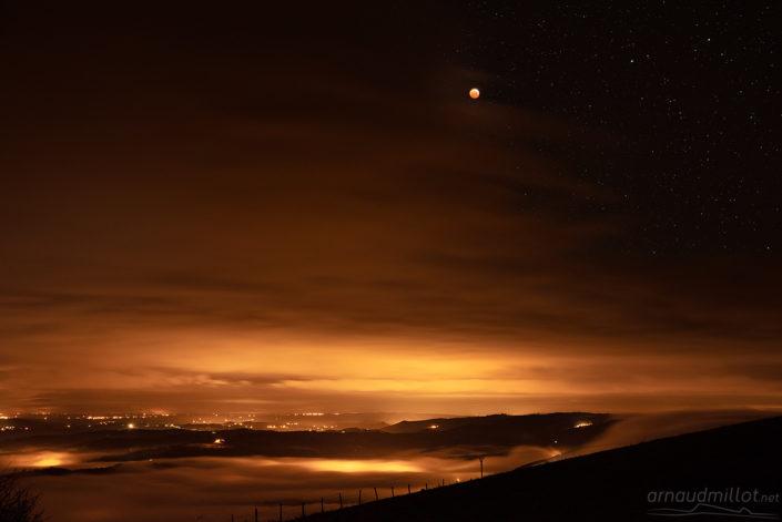 Eclipse Totale de Lune depuis Kaymar, Lunel, Aveyron