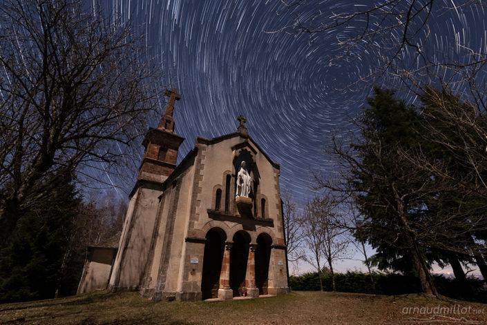 Filé d'étoiles depuis Notre Dame du Buenne, Mayran, Aveyron, Février