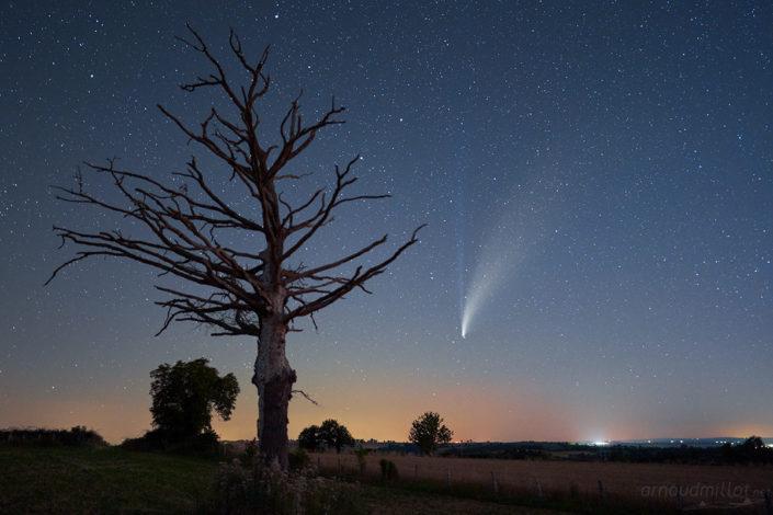 Comete Neowize c2020 f3, Olemps, Aveyron, Juillet 2020