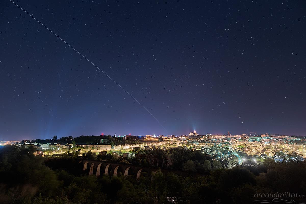 Passage de l'ISS au-dessus de Rodez, Olemps, Aveyron, Mai