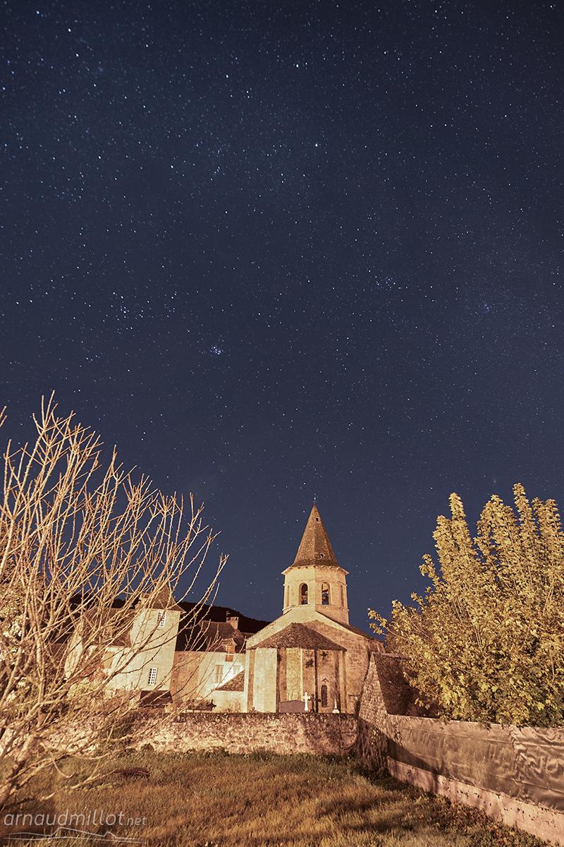 Eglise romane Saint Paul, Salles la Source, Aveyron, Octobre