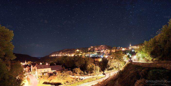 Panorama de Salles la Source, Aveyron, Août