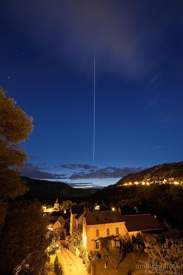 Passage de L'ISS depuis Salles la Source, Aveyron, Août