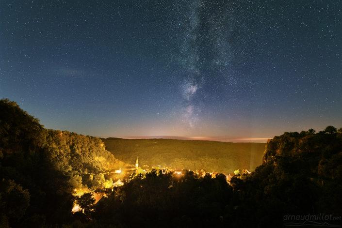 Salles la Source et Voie Lactée, Aveyron, Juillet