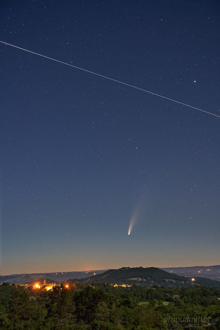 Comete Neowize c2020 f3 et ISS, Sebazac Concoures, Aveyron, Juillet 2020
