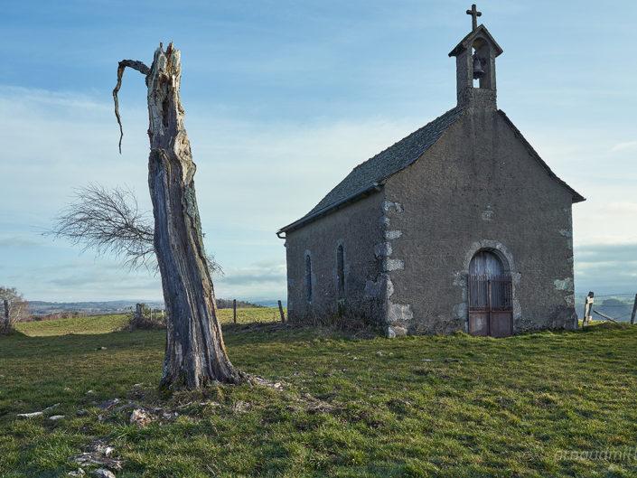 Chapelle du calvaire du Puech de Mayrials, Crozillac, Aveyron, Janvier 2020