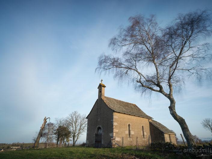 Chapelle de Crozillac, Montpeyroux, Aveyron, Janvier