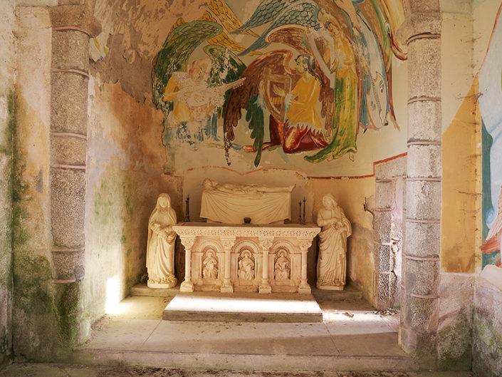 Choeur de la Chapelle du calvaire du Puech de Mayrials, Crozillac, Aveyron, Janvier 2020